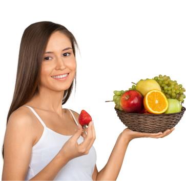 girl holding a fruit basket